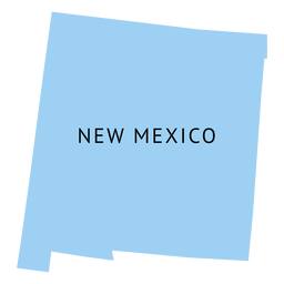 New mexico state plain map