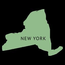 Mapa llano del estado de Nueva York