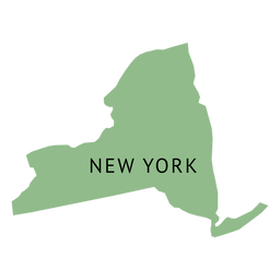 New york state plain map