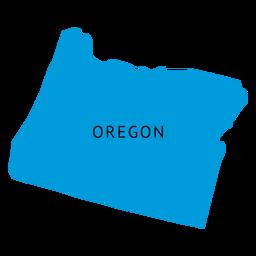 Oregon state plain map