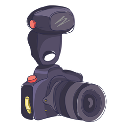 Dibujos animados de cámara de fotos