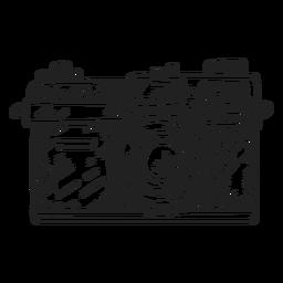 Rangefinder camera sketch