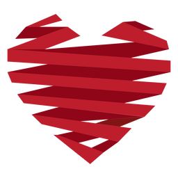 Ribbon wrapped heart sticker