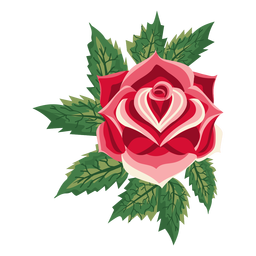 Blooming rose icon flower