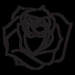 Blooming rose stroke icon flower