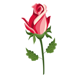 Rose bud stem icon