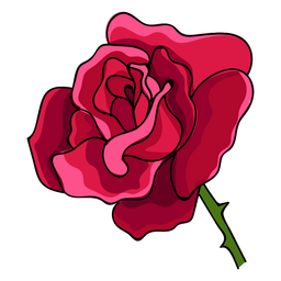 Rose head water paint icon