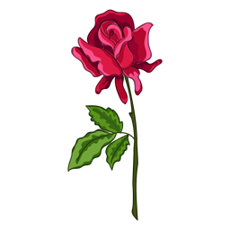 Rose stem water paint icon