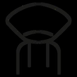Designer chair stroke icon