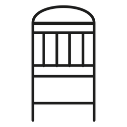 Simple chair stroke icon