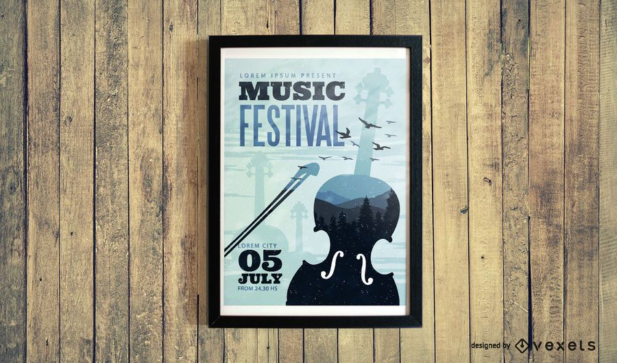 Diseño de cartel de festival de música clásica