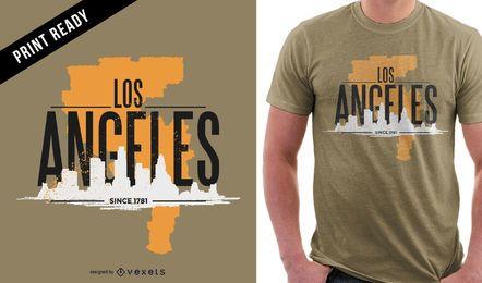 Los Angeles rugged t-shirt design