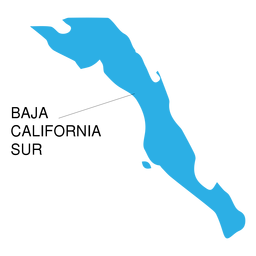 Baja california sur state map
