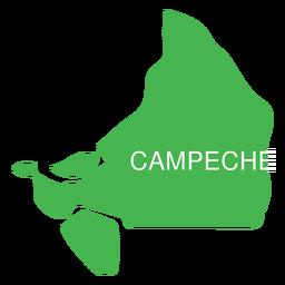 Campeche state map