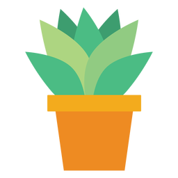 Flowerpot with cactus clipart