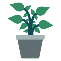 Flowerpot with plant clipart