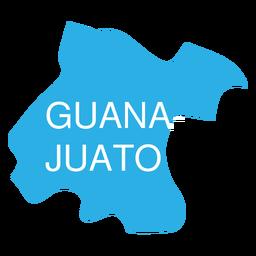 Guanajuato state map