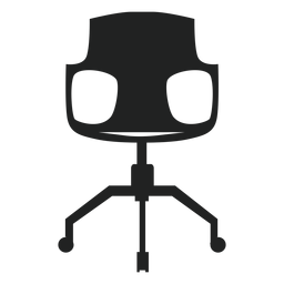 Modern desk chair flat icon