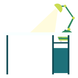 Office desk illustration