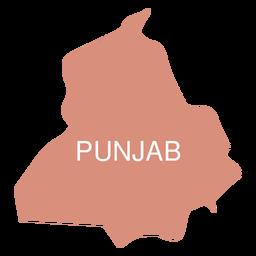 Punjab state map