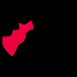 Queretaro de arteaga state map