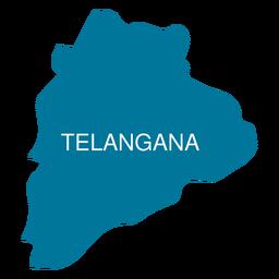 Telangana state map