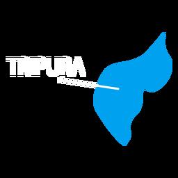Tripura state map