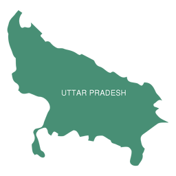 Uttar pradesh state map