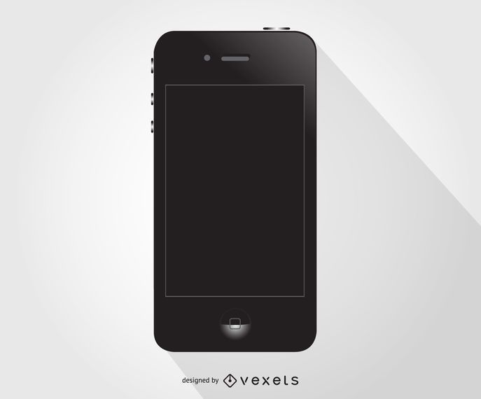 Black Iphone vector