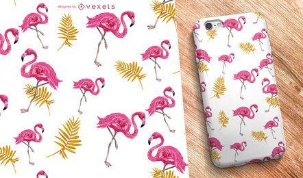 Flamingo nature seamless pattern
