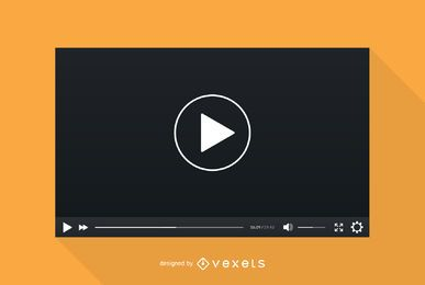 Video player screen template