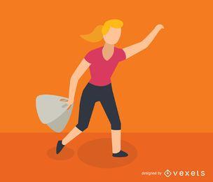 Woman shopping isometric icon