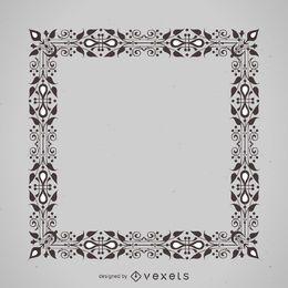 Floral ornament frame
