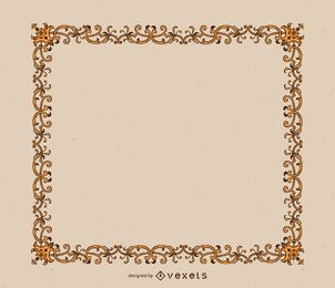 Elegant golden ornaments frame