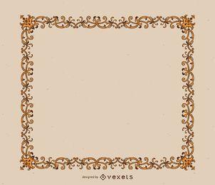 Elegante marco de adornos dorados