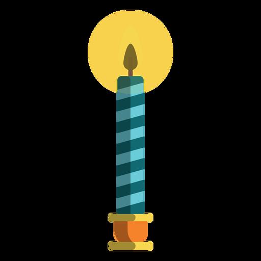 Blue candy cane pillar candle Transparent PNG