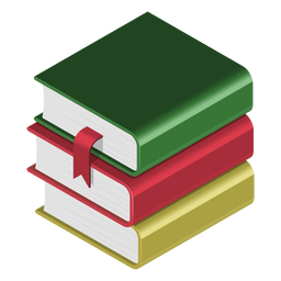 Books pile 3d icon