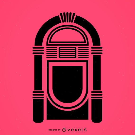 Icono plano musical jukebox
