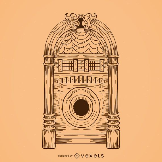 Musical jukebox drawing