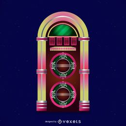 Colorful jukebox illustration