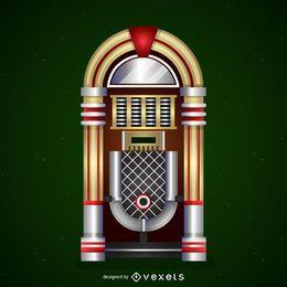 Icono de la máquina de discos vintage