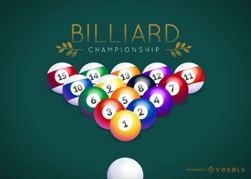 Billiard championship logo