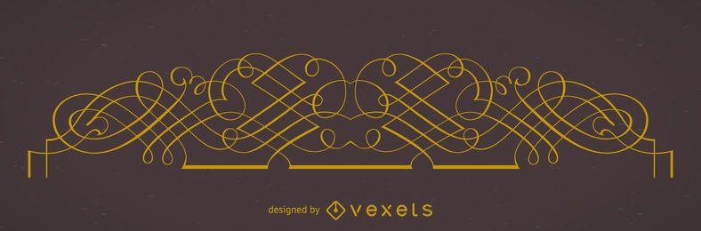 Elegante elemento de marco ornamental