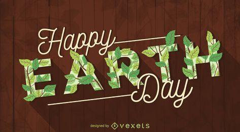 Signo de caligrafía feliz día de la tierra