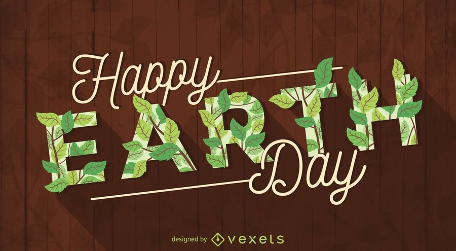 Happy Earth Day calligraphy sign