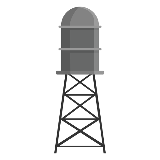 Elevated water storage tank icon Transparent PNG