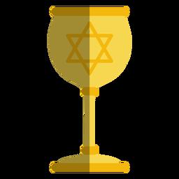 Golden goblet with jewish star