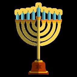 Hanukkah candlestick menorah illustration