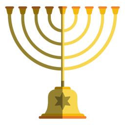 Hanukkah menorah candelabro
