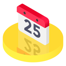 Isometric calendar icon